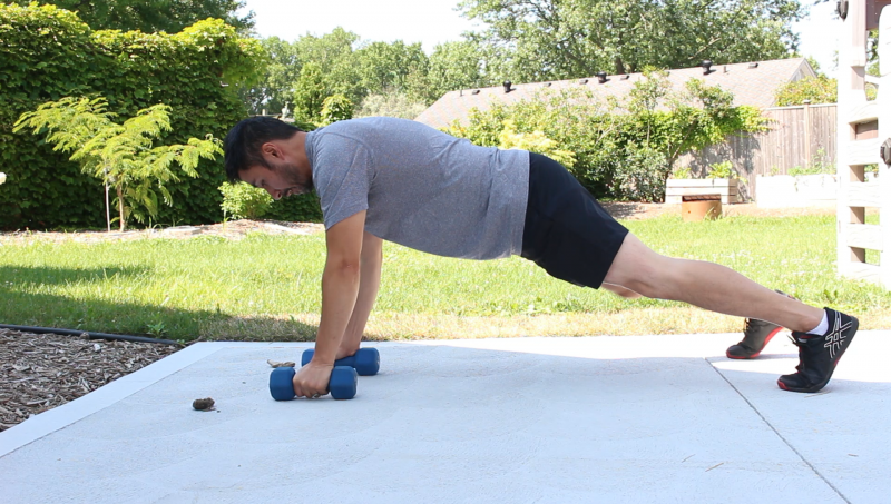 Plank exercises outside
