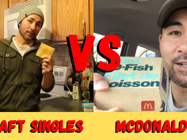 Perfect grilled cheese vs McDonalds Foods