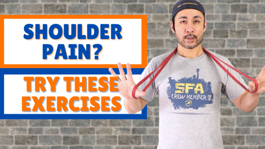 shoulder pain resistance band exercises