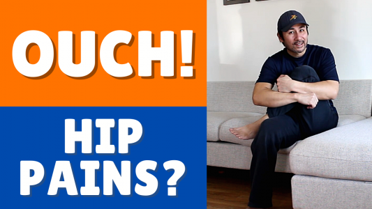 3 Hip mobility home exercises hip pains, back pain and sciatica pains.
